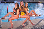 Alexis Wieseler, middle, a senior at Redlands East Valley High School is leading the way for her two freshman sisters Madison, left and Alison in water polo at Redlands East Valley High School on Tuesday, Jan. 10, 2012.