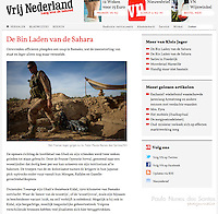 Screengrab of &quot;Mali War&quot; published in Vrij Nederland