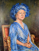 BNPS.co.uk (01202 558833)<br /> Pic: SAS/BNPS<br /> <br /> A stunning finished painting of the Queen Mother.<br /> <br /> An amazing 30 year old time capsule of Royal artworks have been found gathering dust in a dilapidated estate near Tonbridge in Kent.<br /> <br /> They form part of a remarkable collection of 400 works by the almost forgotten painter Bernard Hailstone, that have been locked away in his abandoned studio at Hadlow Tower since his death in 1987.<br /> <br /> Amongst the famous figures who sat for Mr Hailstone, who died in 1987, were the Queen, the Queen Mother, Prince Charles, Winston Churchill, former US president Jimmy Carter and actor Laurence Olivier.<br /> <br /> While sitting for her portrait at Buckingham Palace, The Queen asked him to adjust the aerial so she could watch the horse racing on the TV.<br /> <br /> The then US president Jimmy Carter was sketched by Mr Hailstone during a flight from London to New York, while Mr Hailstone and Winston Churchill discussed aliens during their sitting at Chartwell.