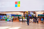 People shopping at Microsoft store, Yorkdale shopping center, Toronto, Ontario, Canada 2014.