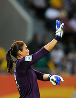 Hope Solo of team USA during the FIFA Women's World Cup at the FIFA Stadium in Wolfsburg, Germany on July 6thd, 2011.