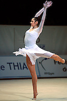 Anna Bessonova of Ukraine handsfree pirouettes during gala exhibition at 2006 Thiais Grand Prix in Paris, France on March 26, 2006.  (Photo by Tom Theobald)