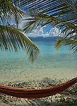 Hammock under palm trees on Isla Pelikano, San Blas Islands, Kuna Yala, Panama