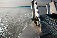Setting the Gill Net off Paradigm Shift, Cordova, Alaska, US