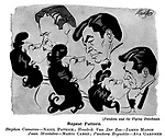 Punch cartoons by Robert Sherriffs..Film Review ; ..Pandora and the Flying Dutchman ; Nigel Patrick , James Mason ,  Mario Cabre and Ava Gardner