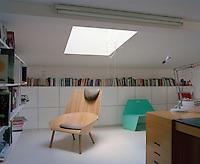 A plywood chair by Stefan Diez in his wife Saskia's studio