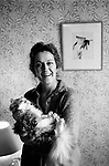 Germaine Greer, at home London 1980s. <br /> <br /> <br /> My ref /4561/1980s,