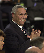 Washington, DC - September 20, 2001 -- U.S. Secretary of State Colin Powell Applauds during U.S. President George W. Bush speech to a Joint Session of Congress..Credit: Ron Sachs / CNP