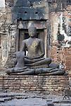 Buddha Statue at Wat Phra Prang Sam Yot, Lop Buri