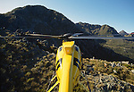 Hughes 500 D Helicopter hunting for Red Deer  Fiordland National Park New Zealand.