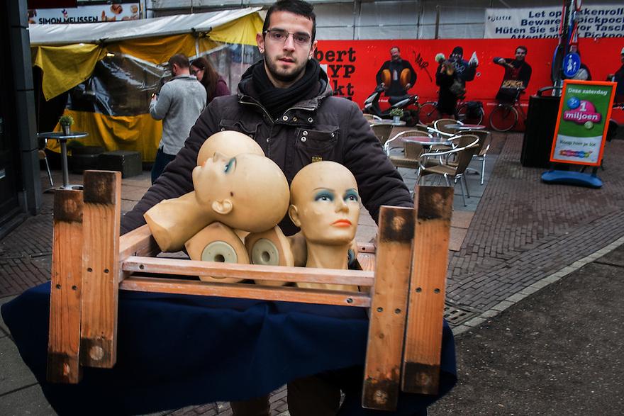 Nederland, Amsterdam, 10 feb 2015<br /> Albert Cuypmarkt.<br /> <br /> Foto: (c) Michiel Wijnbergh