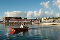 Mauritius. Le Caudan waterfront of the city of Port Louis.
