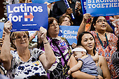 PHOENIX, ARIZONA, USA, 20/10/2016:<br /> Women supporters of Hillary Clinton are cheering during the rally in Phoenix, AZ, attended by Michelle Obama. Hillary Clinton has the widest support among women and non-white communities.<br /> Arizona, traditionally very republican state, has become a swing state with both main candidates equally scoring in polls. (Photo by Piotr Malecki / Napo Images)