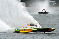 "13-14 June, 2009, APBA Inboards, Walled Lake, Novi, MI. USA.Nicky Pellerin, E-81 ""Crazy Cajun"", 5 Litre hydroplane.©F. Peirce Williams 2009 USA.F.Peirce Williams.photography.ref: RAW (.NEF) File Available"