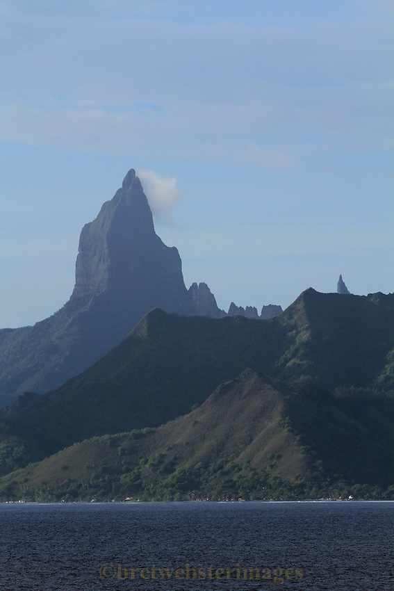 "Mt Rotui on Moorea - the original inspiration for ""Bali Hai""."