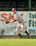 4 July 2012: Hudson Valley Renegades infielder Ryan Dunn in action against the Vermont Lake Monsters at Centennial Field in Burlington, Vermont. The Lake Monsters edged out the Renegades the Cyclones 2-1 in NY Penn League action. Mandatory Credit: Ed Wolfstein Photo