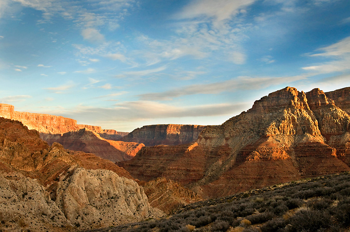Sunset comes gracefully at 60 mile Canyon.