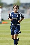 19 June 2004: Jen Grubb before the game. The Washington Freedom tied the Boston Breakers 3-3 at the National Sports Center in Blaine, MN in Womens United Soccer Association soccer game featuring guest players from other teams.