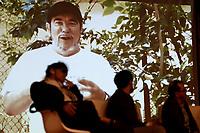 """BOGOTÁ -COLOMBIA. 01-04-2017. Presentación del libro de Jorge Rojas """"Timochenko, el último guerrillero"""" acerca del máximo comandante del desmovilizado grupo guerrillero de izquierda colombiano FARC_EP, Rodrigo Londoño Echeverri más conocico como Timoleon Jimenez (Timochenko o Timochenco). El lanzamiendto se realizó en el marco de la versión 30 de la Feria Internacional del Libro de Bogotá que tiene este año como país invitado de honor a Francia y ofrecerá una programación diversa destinada a todos los públicos de la FILBo y es el evento de promoción de la lectura y la industria editorial más importante en Colombia. / Launch of the book wrote by Jorge Rojas """"Timochenko, el último guerrillero"""" about the Maximum leader of the demobilized left guerrilla group FARC_EP, Rodrigo Londoño Echeverri most known under the name Timoleon Jimenez (Timochenko o Timochenco). The launching was held as part of the 30th version of the International Book Fair in Bogota that has this year as a country guest to France and offers a diverse program aimed to all public of FILBo and is the most important event to promote the reading and the editorial industry in Colombia. Photo: VizzorImage/ Gabriel Aponte / Staff"""