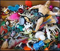 BNPS.co.uk (01202 558833)<br /> Pic: Bluebowerbird/BNPS<br /> <br /> Jane trawls car boot sales to find her raw materials.<br /> <br /> PopArt - Artist Jane Perkins recreates famous people and paintings from recycled plastic rubbish.<br /> <br /> Her stunning 'Plastic Classics' generate the most interest and sell for thousands of pounds.<br /> <br /> She has created rubbish replica's of famous paiintings by Van Gogh's, Monet, Raphael, Gustav Klimt, Salvi and Frida Kahlo as well as Japanese artist Katsushika Hokusai's the Great Wave of Kanagawa.<br /> <br /> She also creates pictures of animals for private commissions. For example, a stunning work of a tiger's head is made up of objects like plastic toy animals, golf tees and beads.<br /> <br /> Jane, a former hospital nurse from Kenton, near Exeter, Devon, now sells her work for up to &pound;2,500 a go.<br /> <br /> She said: &quot;I go to car boot sales and buy anything that is plastic, mostly toys and bits of broken jewellery, anything small. The neighbours often give me bags of bits and pieces they no longer want. <br /> <br /> &quot;People love them because they can see the whole image but also see what is in it. They can find things in them that they recognise, like little bits from their childhood.