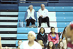 31 January 2013: UNC men's basketball coach Roy Williams (right) watches the game from the stands with his wife Wanda Williams (left). The University of North Carolina Tar Heels played the Florida State University Seminoles at Carmichael Arena in Chapel Hill, North Carolina in an NCAA Division I Women's Basketball game. UNC won the game 72-62.