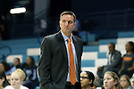 20 November 2016: Bucknell head coach Aaron Roussell. The University of North Carolina Tar Heels hosted the Bucknell University Bisons at Carmichael Arena in Chapel Hill, North Carolina in a 2016-17 NCAA Women's Basketball game. UNC won the game 65-50.