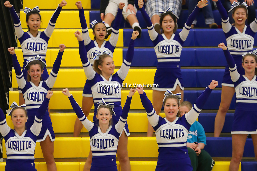 Los Altos High School Cheerleaders at the CCS Quarterfinals Game<br />