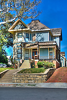 "Michael Jackson, ""Thriller House"", Angelino Heights,  Los Angeles, CA, Echo Park, district, well-kept, Victorian era, residences, California ,Vertical image"