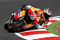 July 3, 2010 - Catalunya, Spain -  Italian rider Andrea Dovizioso (Repsol Honda Team) takes a curve during a free MotoGP practice session at Catalunya circuit, Spain, on July 3, 2010. (Photo Andrew Northcott/Nippon News)