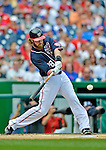 3 September 2012: Washington Nationals outfielder Jayson Werth in action against the Chicago Cubs at Nationals Park in Washington, DC. The Nationals edged out the visiting Cubs 2-1, in the first game of heir 4-game series. Mandatory Credit: Ed Wolfstein Photo