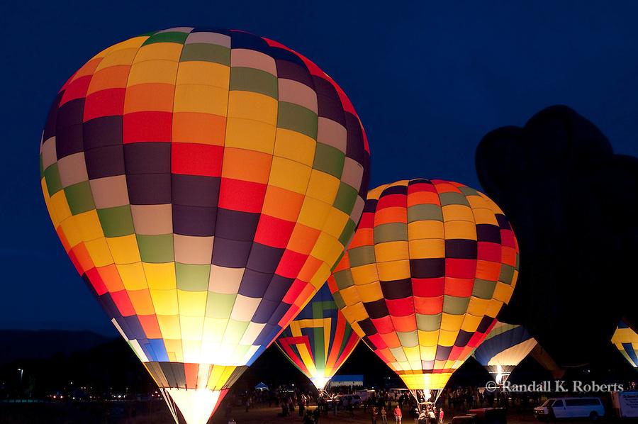 Balloon Glow, Snowmass Balloon Festival, 2009