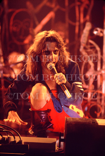 "Alice Cooper sings ""Eighteen"" at the Brown County Arena in Green Bay Wisconsin. This was part of the Welcome To My Nightmare tour. Taken 3/25/1975"