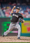 19 September 2015: Miami Marlins pitcher Scott McGough on the mound against the Washington Nationals at Nationals Park in Washington, DC. The Marlins fell to the Nationals 5-2 in the third game of their 4-game series. Mandatory Credit: Ed Wolfstein Photo *** RAW (NEF) Image File Available ***