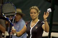 Kim CLIJSTERS (BEL) against Petra KVITOVA (CZE) in the second round of the women's singles. Clijsters beat Kvitova 6-1 6-1..International Tennis - 2010 ATP World Tour - Sony Ericsson Open - Crandon Park Tennis Center - Key Biscayne - Miami - Florida - USA - Fri 26 Mar 2010..© Frey - Amn Images, Level 1, Barry House, 20-22 Worple Road, London, SW19 4DH, UK .Tel - +44 20 8947 0100.Fax -+44 20 8947 0117