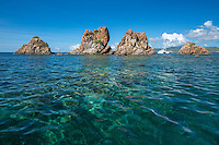 The Indians are an uninhabited small archipelago of islets in the British Virgin Islands in the Caribbean. They are west of the small British Pelican Island and east of the small US Flanagan Island.