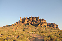 Apache Junction, Arizona. The Lost Dutchman State Park is located in the area of the Superstition Mountains in the Sonoran Desert, 40 miles east of Phoenix, Arizona. The park takes its name from a fabled lost gold mine. The Treasure Loop Trail is 2.4 miles long trail and a favorite to hikers for the imposing view of the Superstition Mountain it offers. Photo by Eduardo Barraza © 2011