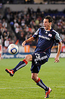 Marko Perovic (29) of the New England Revolution. The New York Red Bulls defeated the New England Revolution 2-0 during a Major League Soccer (MLS) match at Red Bull Arena in Harrison, NJ, on October 21, 2010.