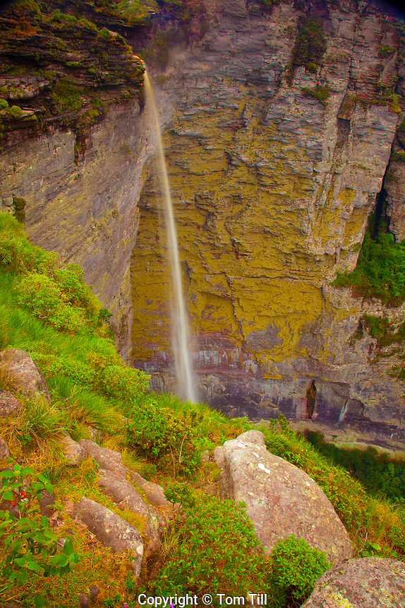 Fumaca Waterfall Diamantina National Park, Brazil  1, 500 feet high  23th highest in world   Mesas in tropical rainforest