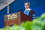 05/19/2013 - Medford/Somerville, Mass. - Claude M. Steele, the I. James Quillen Dean of the School of Education at Stanford University, delivers the commencement address at Tufts University's 157th Commencement on Sunday, May 19, 2013.  (Kelvin Ma/Tufts University)