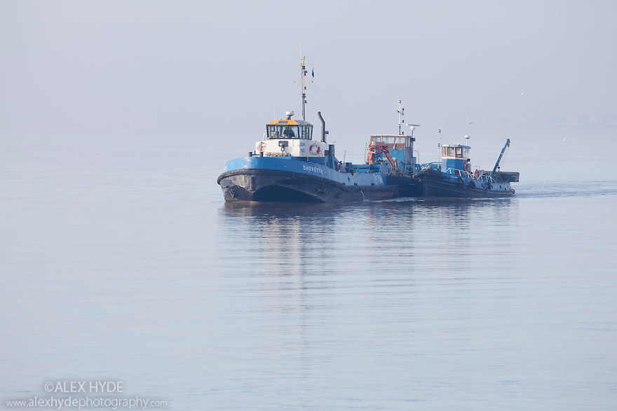Tug boats on the Humber estuary, Kingston upon Hull, East Yorkshire, England, UK.