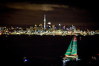 NEW ZEALAND, Auckland. 10th March 2012. Volvo Ocean Race Leg 4. Groupama arrivial.