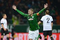 USSBALL   1. BUNDESLIGA    SAISON 2012/2013    10. Spieltag   Werder Bremen - FSV Mainz 05                             04.11.2012 JUBEL Werder, Torschuetze zum 1-0 Aaron Hunt