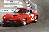 August 26th 1984, Laguna Seca Raceway, CA. 1961 Ferrari 250 GT Berlinetta.