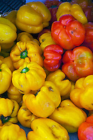Assorted Red, Yellow Peppers, Fresh, Vegetables, Farm-fresh produce,