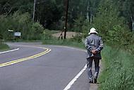 Ile D'Orleans, Quebec City Area, Canada, June 8, 1984. Morning walk.