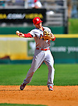 12 March 2012: St. Louis Cardinals infielder Pete Kozma in action during a Spring Training game against the Washington Nationals at Space Coast Stadium in Viera, Florida. The Nationals defeated the Cardinals 8-4 in Grapefruit League play. Mandatory Credit: Ed Wolfstein Photo
