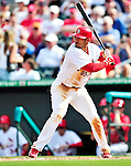 10 March 2010: St. Louis Cardinals' infielder Felipe Lopez in action during a Spring Training game against the Washington Nationals at Roger Dean Stadium in Jupiter, Florida. The Cardinals defeated the Nationals 6-4 in Grapefruit League action. Mandatory Credit: Ed Wolfstein Photo