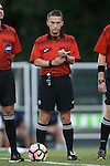 23 September 2016: Referee Charlie Murphy. The University of North Carolina Tar Heels hosted the Boston College Eagles in Chapel Hill, North Carolina in a 2016 NCAA Division I Men's Soccer match. UNC won the game 5-0.