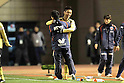 (R-L) Yuya Kubo,  Takeshi Oki (Sanga), DECEMBER 29, 2011 - Football / Soccer : Yuya Kubo of Kyoto Sanga F.C. celebrates with head coach Takeshi Oki after scoring their third goal during the 91st Emperor's Cup semifinal match between Yokohama F Marinos 2-4 Kyoto Sanga F.C. at National Stadium in Tokyo, Japan. (Photo by Hiroyuki Sato/AFLO)