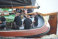 SKUTSJESILEN: SKS2013: SKS kampioenschap 2013, schipper Woudsend, Teake Klaas van der Meulen, ©foto Martin de Jong